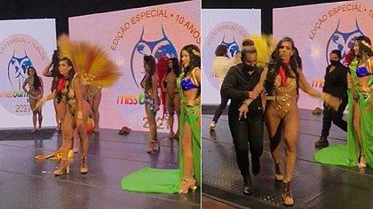 Candidata derrotada no Miss Bumbum arranca faixa da vencedora: 'Roubado'