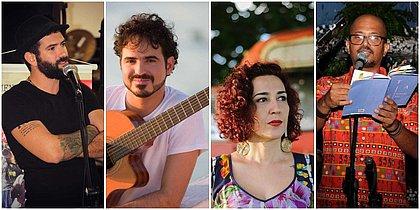 Sarau reúne músicos e poetas para apresentações