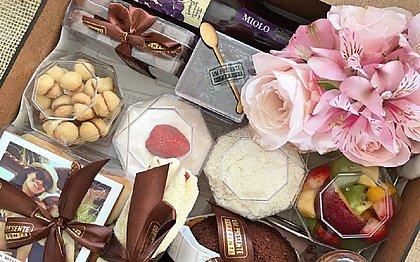 Os boxes da Um presente Diferente, além dos itens de café da manhã também contam com três lembranças para as mamães