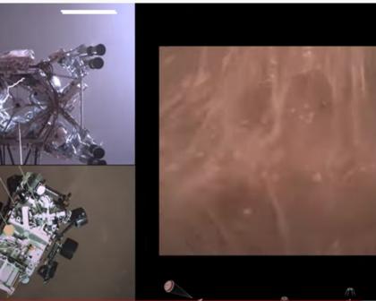 Nasa divulga primeiro vídeo em 4K do pouso do robô Perseverance em Marte