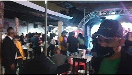 Fiscalização encerra duas festas com aglomeração em Feira no final de semana