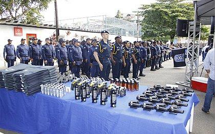 Durante o evento os guardas receberam também armamentos e viaturas novas