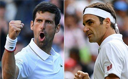 Djokovic e Federer voltam a se enfrentar numa final em Wimbledon