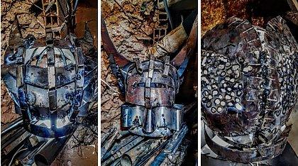 Mostra reúne sete Cabeças de Exu esculpidas por Jayme Fygura