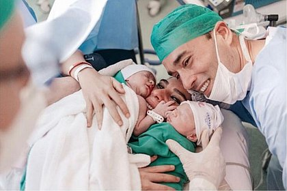 Sadi agradece mensagens sobre nascimento de gêmeos e brinca: 'Dois é rave'