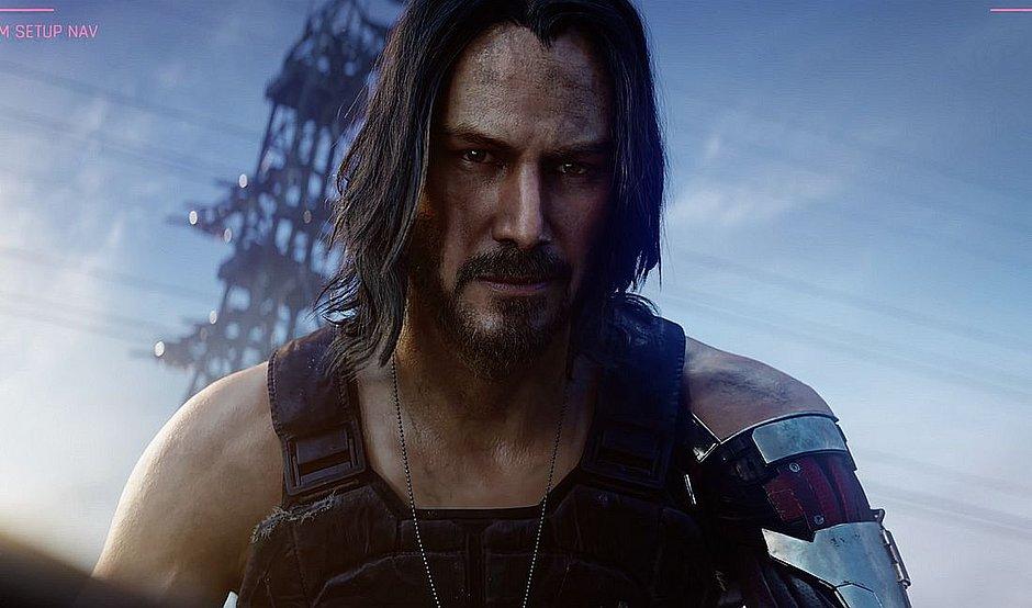 Keanu Reeves é Johnny Silverhand no jogo Cyberpunk 2077, previsto para chegar às lojas em 2020