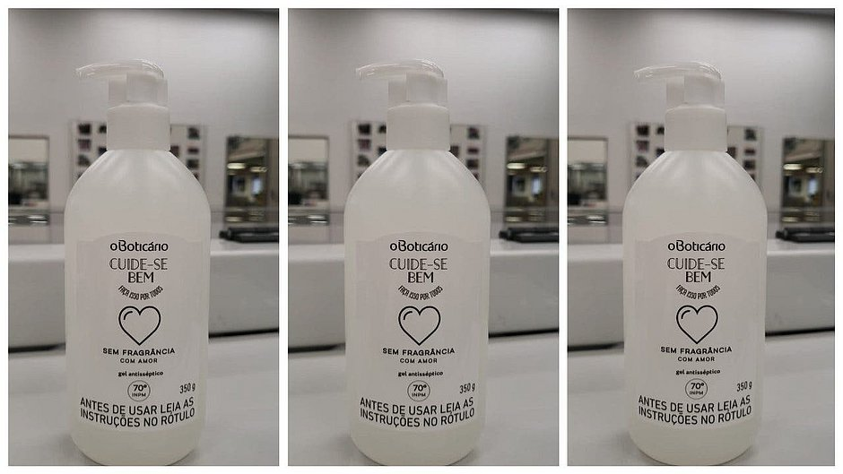 Boticário doa álcool em gel para pacientes que recebem alta do Hospital Espanhol