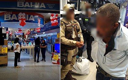 Homem é preso após se esconder no Shopping da Bahia para roubar 42 iPhones