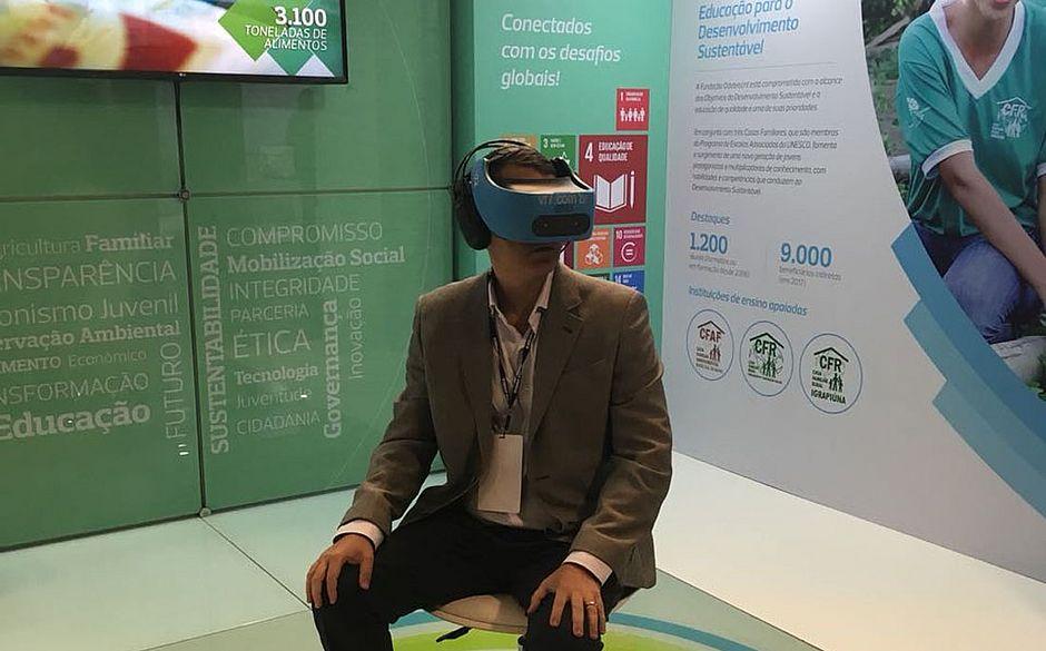 Haverá exibição de vídeo com a tecnologia 360º e interação com estudantes que estarão presentes