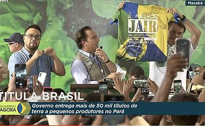 Em evento do governo no Pará, Bolsonaro exibe camiseta 'Bolsonaro 2022'