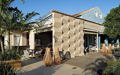 Uma área para convivência e encontros marcados, com direito a um belo pôr do sol e o melhor da gastronomia