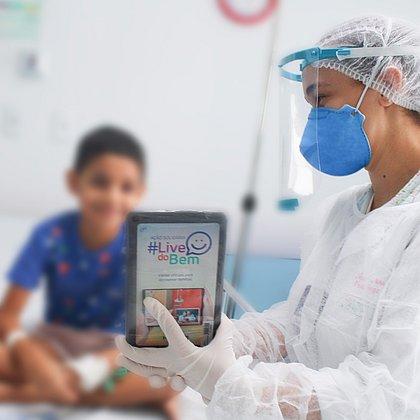 Paciente oncológico sem covid também foi beneficiado pela ação