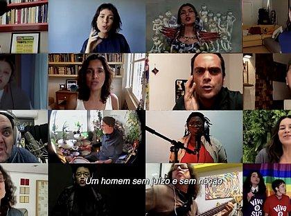 'Cai fora': artistas lançam música pelo impeachment de Bolsonaro