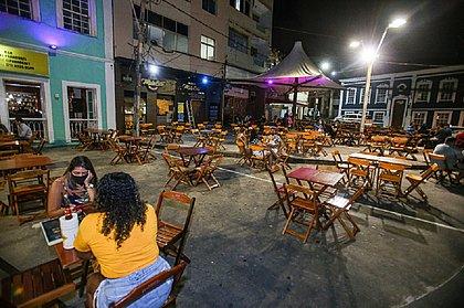 No Rio Vermelho, bares abriram mas respeitando regras do protocolo municipal