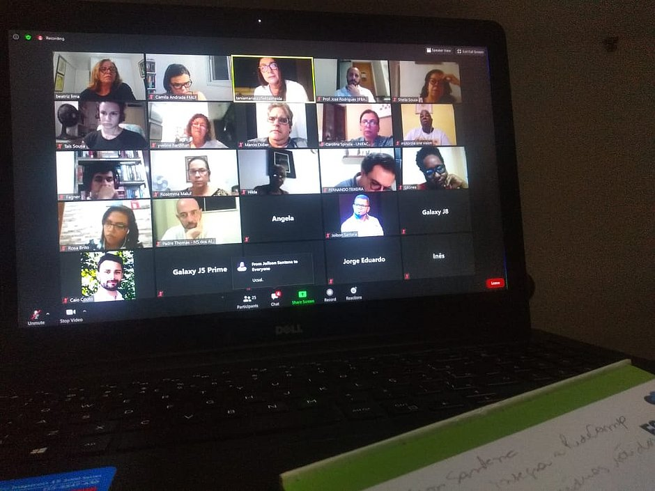 Primeira reunião aconteceu de forma virtual com 40 participantes