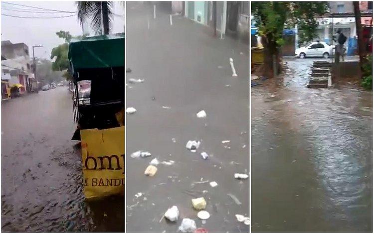 Chuva causa alagamentos em ruas, invade casas e complica trânsito em Salvador