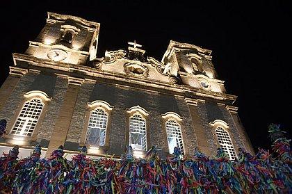 Templo iluminado: prefeitura inaugura luzes especiais no Bonfim