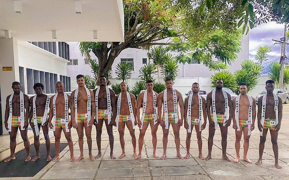 Candidatos do concurso Mister Verão 2020