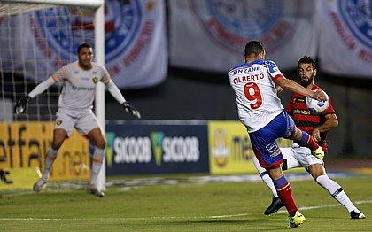 Gilberto perdeu boas chances e não conseguiu encerrar o jejum de gols