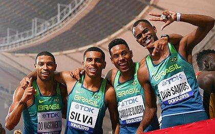 Brasil vai à final no 4x100m masculino no Mundial de Atletismo