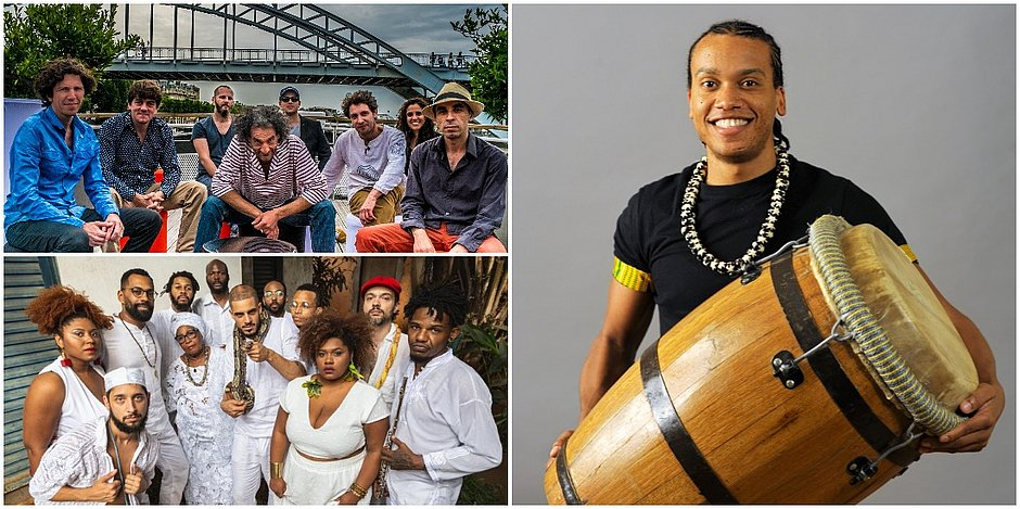 Programação do PercPan inclui o grupo francês Cotonete, o paulista Aláfia e percussionista Boris Reine-Adelaide, da Martinica