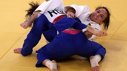 Brasileira Maria Portela perde para a judoca russa Madina Taimazova