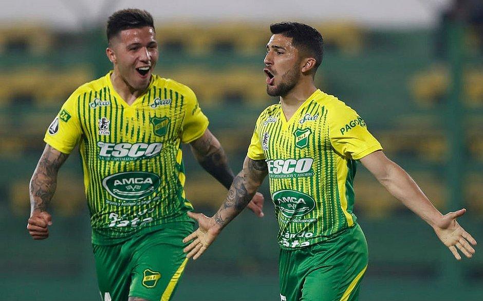 Gabriel Hachen fez um dos gols do time argentino contra o Delfín, pela Libertadores