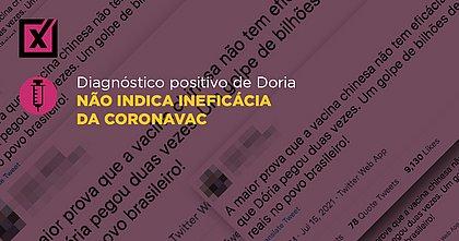 Diagnóstico positivo de Doria não indica ineficácia da Coronavac