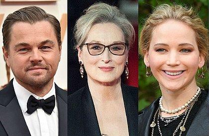 Netflix prepara filme com Meryl Streep, Jennifer Lawrence e Di Caprio