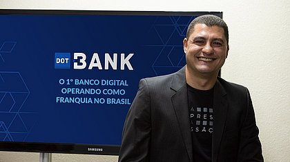 Marcelo Salomão é o diretor executivo da rede de franquia Dot Bank, que atua com o modelo home office, cujo investimento inicial é de R$6 mil.