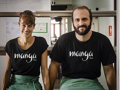 Os chefs Dante e Kafe Bassi do restaurante Manga