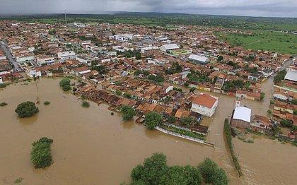 Município de Pedro Alexandre depois da inundação