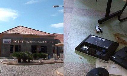 Vândalos invadem Hospital Regional de Juazeiro e destroem equipamentos