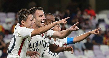 Ex-Vitória, Serginho comemora gol e classificação do Kashima Antlers no Mundial de Clubes