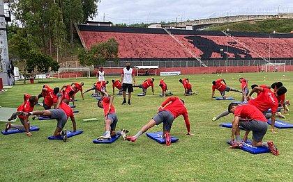 Na Toca do Leão, elenco do Vitória finaliza preparação para jogo contra o Avaí