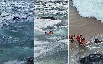 Rio Vermelho: banhista agride guarda-vidas e helicóptero da PM é acionado para dar apoio