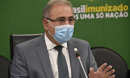 No Senado, Queiroga cita 'dificuldade' para entrega de 2ª dose da Coronavac