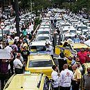 Protesto de taxistas em São Paulo contra regulamentação do Uber (2015)