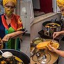 Dona Gel prepara acarajé em casa: de lá para o motoboy e, em seguida, para o cliente
