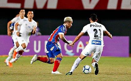 Artur pressionou o Santos, mas passou em branco e não conseguiu evitar a derrota tricolor