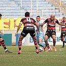 O Vitória não conseguiu traduzir a presença no campo de ataque em gols