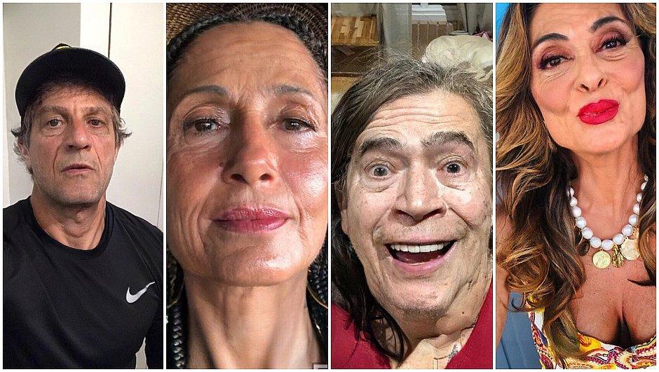 Famosos entram na febre de aplicativo que envelhece rostos; confira