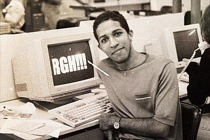 Jean Wyllys na redação do Correio da Bahia nos anos 1990