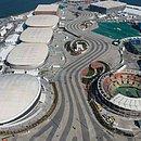 Vista aérea das instalações olímpicas da Rio-2016
