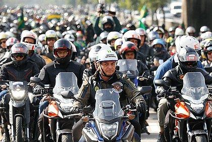 Motociata de Bolsonaro teve 6.661 veículos, aponta sistema de pedágio