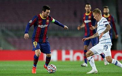 Messi contra o Dínamo de Kiev pela Liga dos Campeões