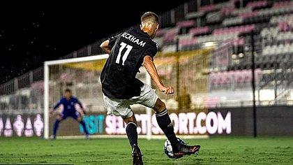 Romeo Beckham teve atuação discreta no empate do Fort Lauderdale
