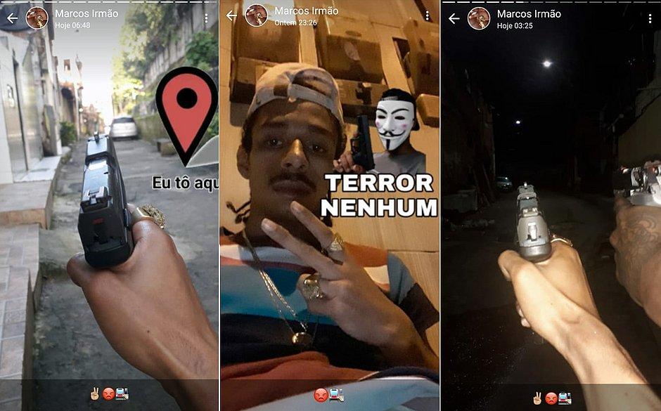 'Terror nenhum': Bandido preso no Nordeste de Amaralina costumava postar fotos armado