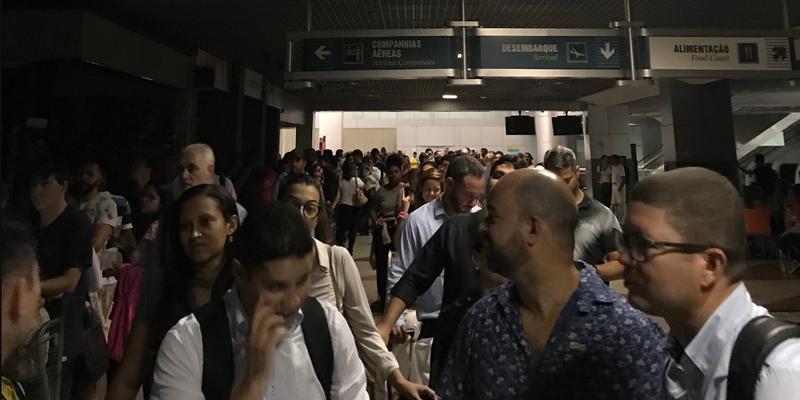 Após apagão no aeroporto de Salvador, voos são remarcados para a noite