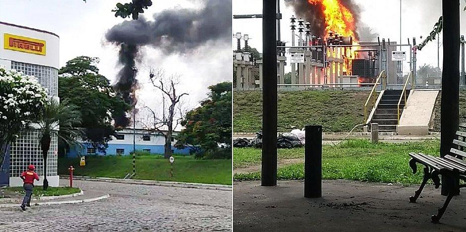 Incêndio atinge fábrica de pneus da Pirelli em Feira de Santana